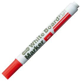 TANOSEE ホワイトボードマーカー 中字角芯 赤 1セット(12本)