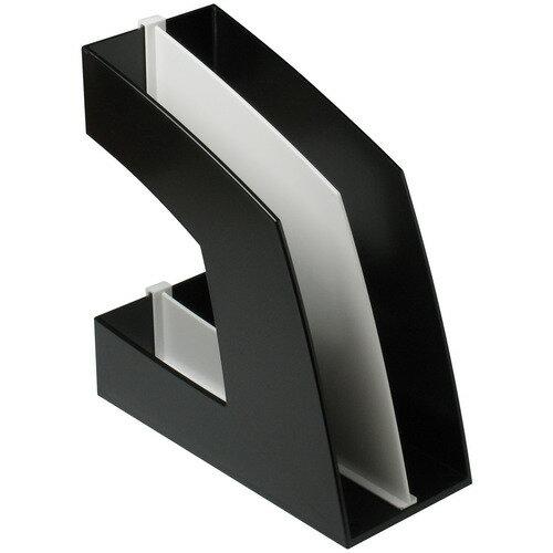 ソニック ファイルボックス 仕切板付 A4タテ 背幅107mm ブラック FB−708−D 1セット(10個) 【送料無料】