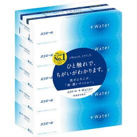 大王製紙 エリエール+Water 180組/箱 1セット(50箱:5箱×10パック) 【送料無料】