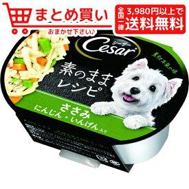 マースジャパンシーザー 素のままレシピ ささみ にんじん いんげん入り 37g 犬 フード ウェット カップ