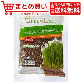 GEEN Labo Dog & Cat grass soil 犬と猫が好きな草の栽培用土 3L