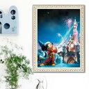 フル ダイヤモンド刺繍 キット ビーズ刺繍 ディズニー マジカルキングダム ミッキー 魔法使い モザイクアート パズル…