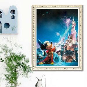 フル ダイヤモンド刺繍 キット ビーズ刺繍 ディズニー マジカルキングダム ミッキー 魔法使い モザイクアート パズルアート リハビリ 趣味 絵画