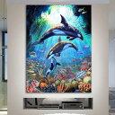 フル ダイヤモンド刺繍 キット ビーズ刺繍 シャチ 海底 サンゴ礁 幻想的 モザイクアート パズルアート リハビリ 趣味 …
