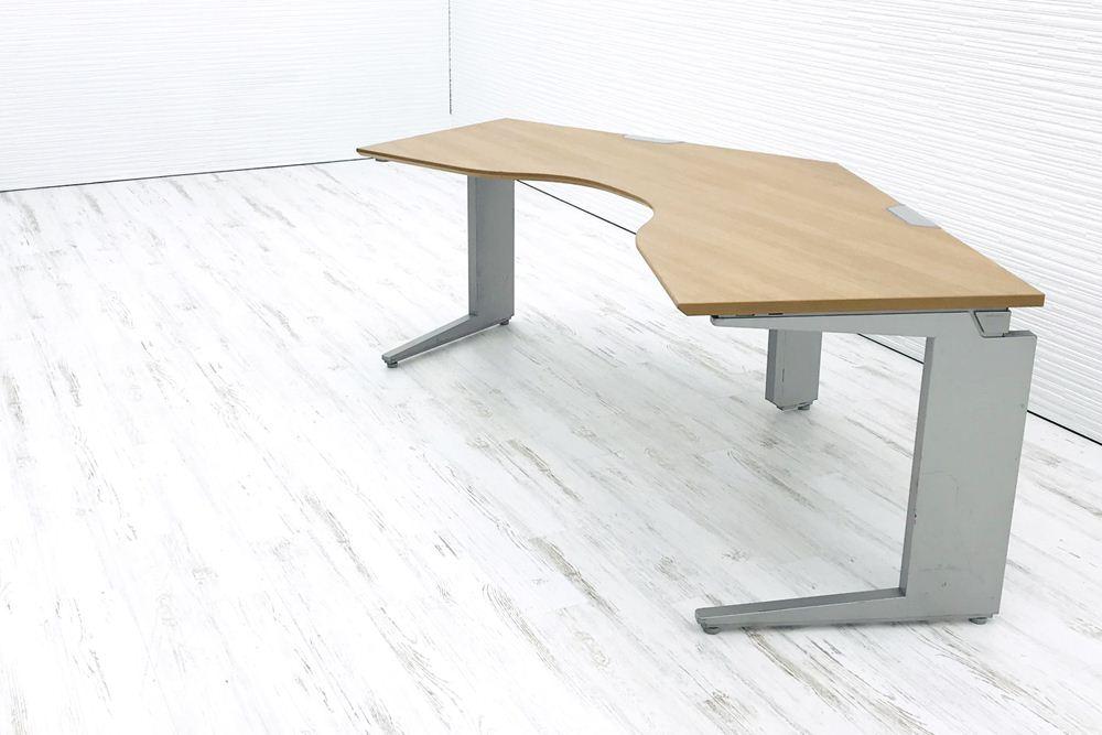 オカムラ ブーメランデスク 135℃ W(1200×1200mm)×D700mm×H720mm 中古 中古オフィス家具 オフィスデスク 机 事務机