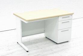 井上金庫 片袖机 W1200 3段袖 中古机 事務机 オフィスデスク 中古オフィス家具