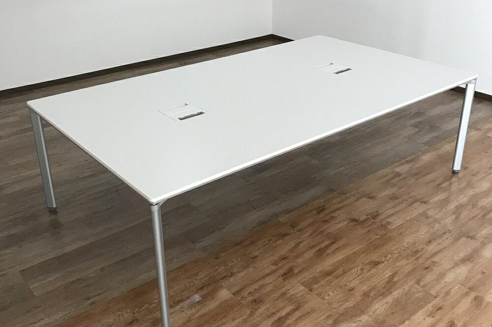 ミーティングテーブル 会議机 会議テーブル 事務机 コクヨ KOKUYO 中古 フリーアドレス ホワイト 2400mm×1400mm 中古オフィス家具