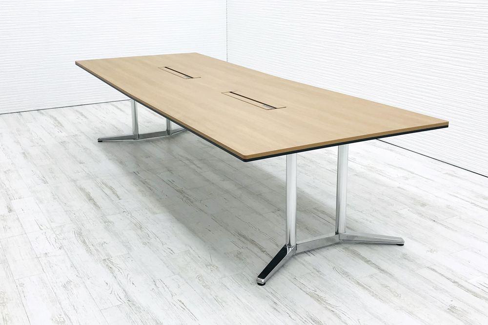 オカムラ ラティオ2 中古 W3200×D1200mm×H720mm 幅3200 ミーティングテーブル 会議机 中古オフィス家具 4L289D