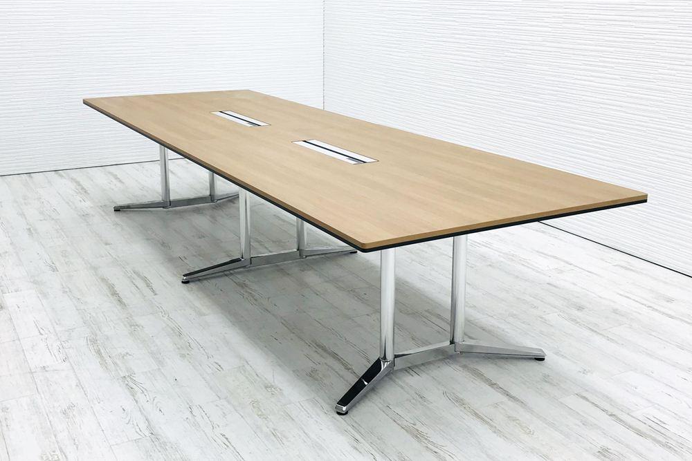 オカムラ ラティオ2 中古 W3600×D1200mm×H720mm 幅3600 ミーティングテーブル 4L289M 会議机 中古オフィス家具