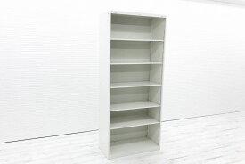イトーキ シンラインキャビネット オープン書庫 中古オフィス家具 オープン棚型 収納家具 HTM-219LS-W9