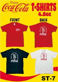 コカ・コーラ Tシャツ 全3色 4.8oz サーフ 半袖 春夏 トップス フルーツオブザルーム メール便対応 ST7