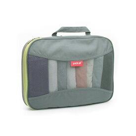 pack all 家庭/旅行用圧縮収納バッグ 衣類整理 圧縮 バッグ トラベルポーチ メッシュ 収納 スペース節約(Lサイズ、2色選択可)