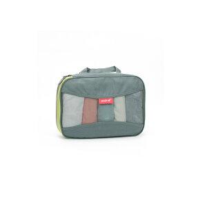 pack all 家庭/旅行用圧縮収納バッグ 衣類整理 圧縮 バッグ トラベルポーチ メッシュ 収納 スペース節約(Mサイズ、2色選択可)