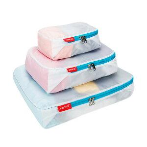 pack all 超軽量 パッキングキューブ アレンジケース トラベルポーチ 防水素材 半透明 防塵 衣類整理 手荷物整理 スーツケース整理 旅行収納バッグ 男女兼用 旅行(ホワイト)3点セット
