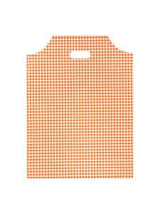 【ショッパー袋】HEIKO ハンディバッグ ギンガム2 オレンジ S (100枚入)