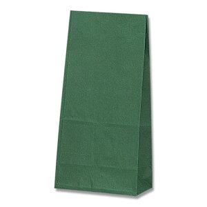 【マチ付紙袋】HEIKO 角底袋 未晒無地 グリーン NO.8(100枚入) 155×95×320mm