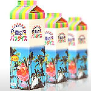 【かき氷シロップ】ハニー氷みつ 1.0リットル 南のパラダイス 12本セット (いちご メロン 日向夏 マンゴー グレープ 抹茶 ブルーライム 桃)
