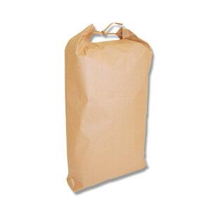 【お米用紙袋】米袋5kg用 舟底タイプ無地 窓無・バンド付 (100枚入) 280×70×490mm
