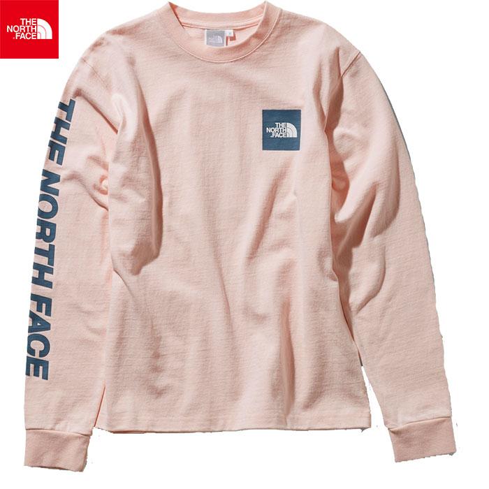 THE NORTH FACE ノースフェイス 2019 SS ロングスリーブスクエアロゴスリーブティー L/S Square Logo Sleeve Tee 女性用 Tシャツ (PS):NTW31951