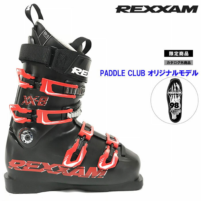 REXXAM レクザム スキーブーツ 18-19 XX-8 クロス8(BX-Sインナー)〔2019 モーグル フリースタイル 上級者モデル 〕 (BLACK):X2JR-299P