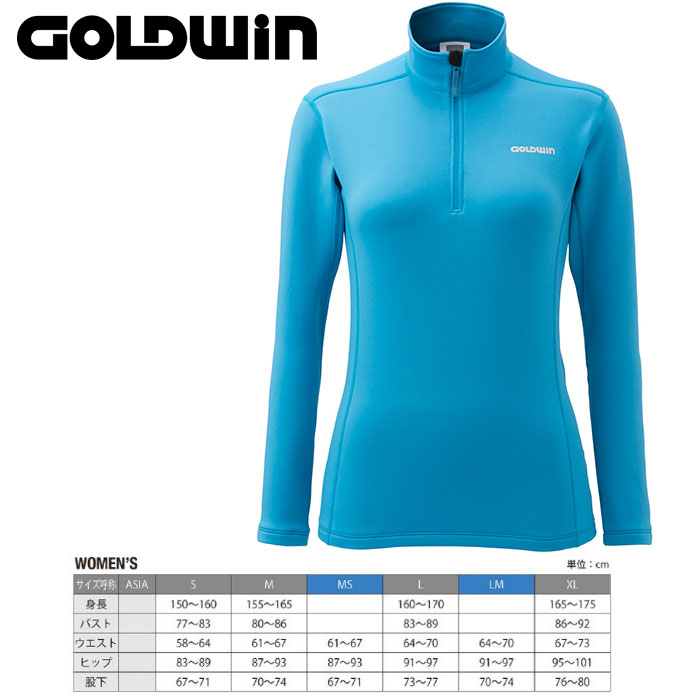 GOLDWIN ゴールドウィン W's Heat Stretch Long Shirt 〔Women's スキーウェア インナージップフリース〕 (CL):GL51561P [50_off] [SP_SKI_WEAR]