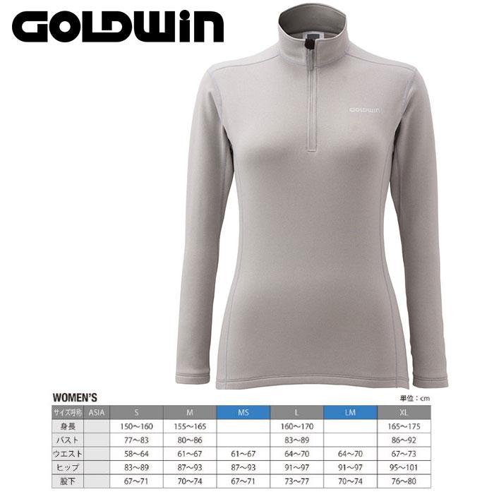 GOLDWIN ゴールドウィン W's Heat Stretch Long Shirt 〔Women's スキーウェア インナージップフリース〕 (CH):GL51561P [50_off] [SP_SKI_WEAR] [pt0]
