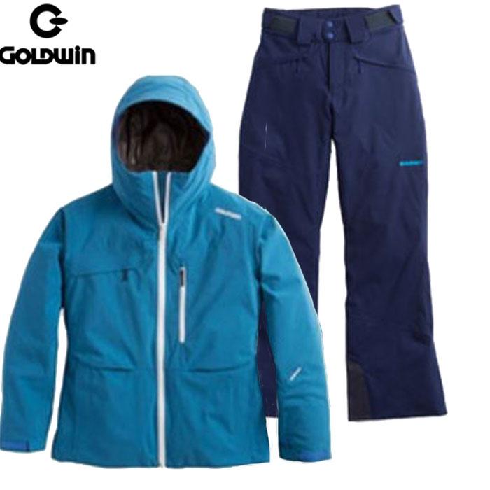 [送料無料] 特価 GOLDWIN ゴールドウィン W'S BRIGHT JACKET & SHINY PANTS 〔レディース スキーウェア 上下セット〕 (上EB下PB):GL11601P & GL31602P [特価 スキーウェア]