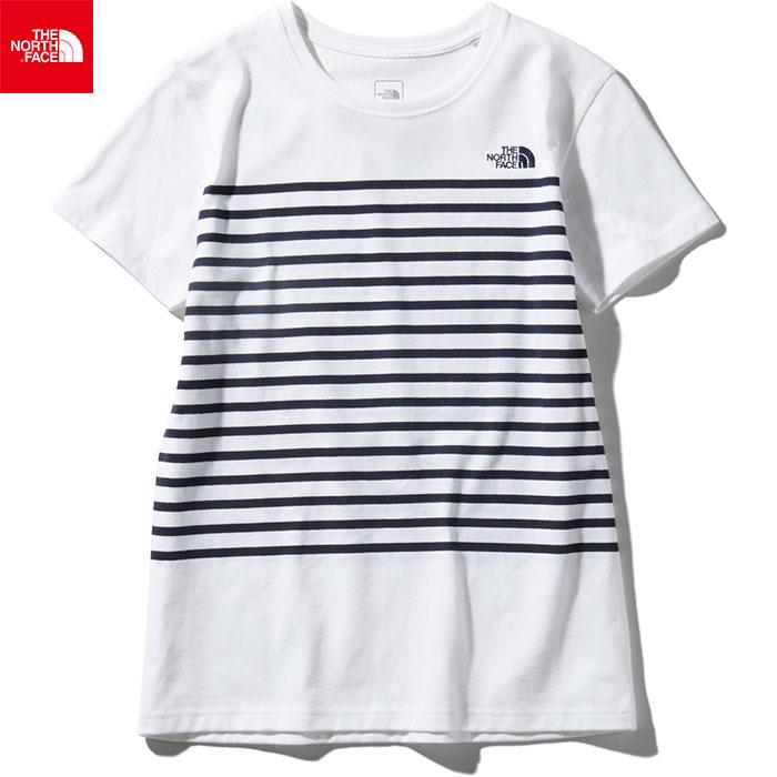 THE NORTH FACE ノースフェイス 2019 SS ショートスリーブパネルボーダーティー S/S Panel Border Tee 女性用 Tシャツ (W):NTW31950