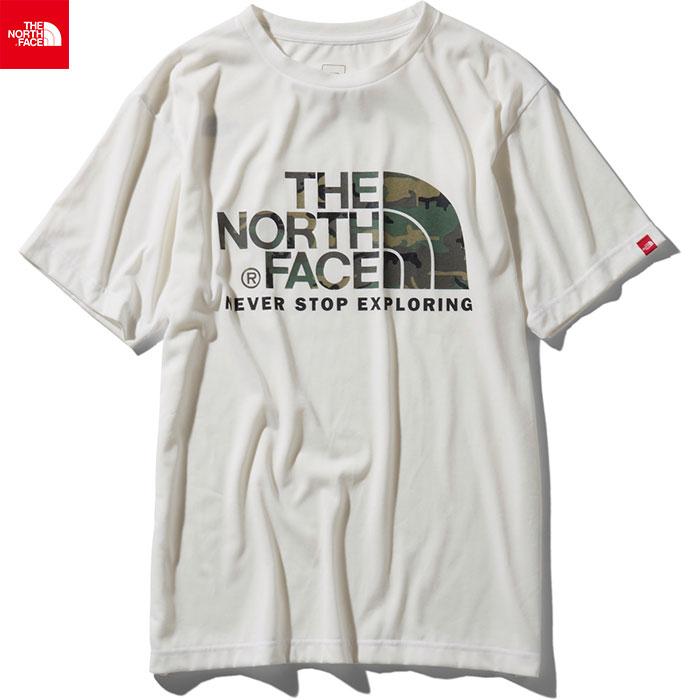 [クーポン利用で10%OFF!4/22まで] THE NORTH FACE ノースフェイス 2019 SS ショートスリーブカモフラージュロゴティー S/S Camouflage Logo Tee Tシャツ (W):NT31932
