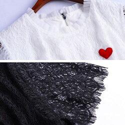 レースデニムドッキングワンピース春春夏夏レディースワンピース半袖レースフレアワンポイント刺繍カジュアルお呼ばれオフィスOL大人上品きれいめエレガント柄ブラックホワイト黒白S-L