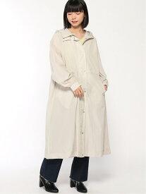 CNロングフーデッドコート alicia ページボーイ コート/ジャケット ロングコート グレー ブラック[Rakuten Fashion]