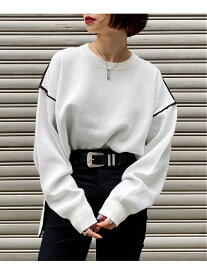 [Rakuten Fashion]WフェイスBIGPO PAGEBOY ページボーイ ニット 長袖ニット ホワイト ブラウン ブルー ブラック【送料無料】