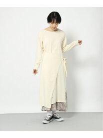 ラップレイヤードOP PAGEBOY ページボーイ ワンピース 長袖ワンピース ホワイト ブラック ブルー[Rakuten Fashion]