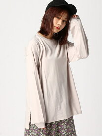 BASICロンTEE PAGEBOY ページボーイ カットソー Tシャツ グレー ブラウン ブラック ベージュ ホワイト[Rakuten Fashion]
