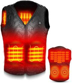 電熱ベスト ヒーターベスト 電熱ジャケット ヒーター内蔵ベスト 防寒着 あったかグッズ サイズ調整可能 USB充電 バッテリー給電 3段階温度調整 軽量 軽い 男女兼用 ほっとチョッキ 水洗い アウトドア 防寒対策 加熱服