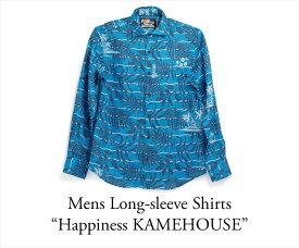 ドラゴンボール30周年記念シャツ アロハシャツ メンズ(男性用)「Happiness KAMEHOUSE」全1色 長袖 3L 大きいサイズあり 沖縄結婚式にアロハシャツ