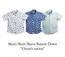 アロハシャツメンズ(男性用)「Ocean'snation」全3色半袖3L4L5L大きいサイズあり沖縄結婚式にアロハシャツ