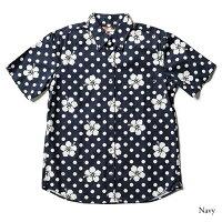 アロハシャツメンズ(男性用)「CircleHibiscus」全2色半袖3L4L5L大きいサイズあり沖縄結婚式にアロハシャツ