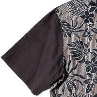 アロハボタンダウンシャツメンズ(男性用)「Islandsquall」全3色半袖沖縄結婚式にアロハシャツ