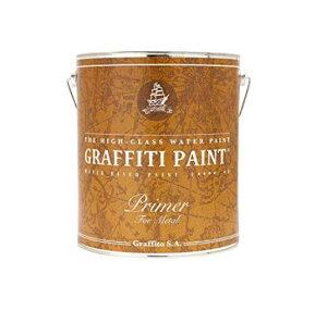 グラフィティーペイント メタルプライマー(グレー) 4L(約38平米分) ビビッドヴァン 水性 金属用 錆止め 下塗り塗料