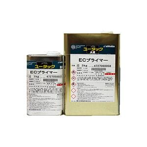 5月はエントリーでP10倍★ユータックECプライマー 透明 4kgセット(26平米分) 日本特殊塗料 油性/屋内床用/2液/下塗り材