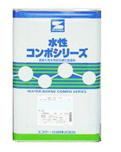 エントリー全商品P10倍★水性コンポシリコン 白 ホワイト ツヤ選択可能 16kg(45〜64平米分) エスケー化研 水性 1液 内外壁用 アクリルシリコン樹脂 防カビ 防藻