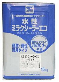 水性ミラクシーラーエコ クリヤー ホワイト 15kg(約115〜150平米分) エスケー化研 水性 下塗り 壁用 1液