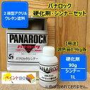 パナロック【硬化剤90g+シンナー1L】セット 調色【ロックペイント】