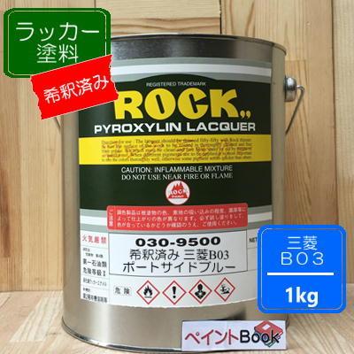 三菱 B03【1kg】ポートサイドブルー キャンター ラッカー塗料 ペンキ