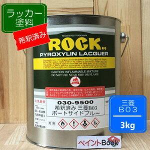 【シンナー希釈済み】三菱 B03【3kg】ポートサイドブルー キャンター ラッカー塗料 ペンキ