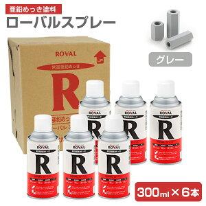 ローバルスプレー 300ml×6本/箱 (110797/ローバル/亜鉛めっき塗料/錆止め)
