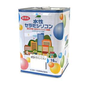 外壁用  水性セラミシリコン 淡彩色 16kg(缶) 各色【エスケー化研株式会社】