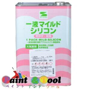 一液マイルドシリコン 7分艶 赤錆 15kg(缶)【エスケー化研株式会社】