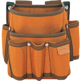 タジマ プロマックス 電工腰袋(2段/工具差し付)ブラウン(PMDE2K)